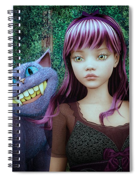 Wonderland Alice Spiral Notebook