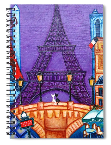 Wonders Of Paris Spiral Notebook