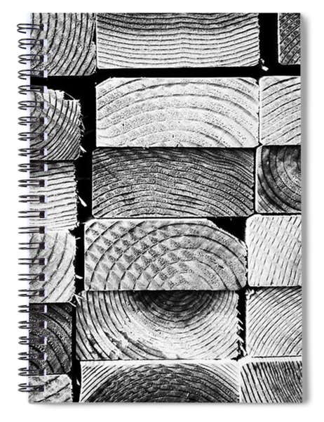 Wood Ends. #abstract #pattern Spiral Notebook