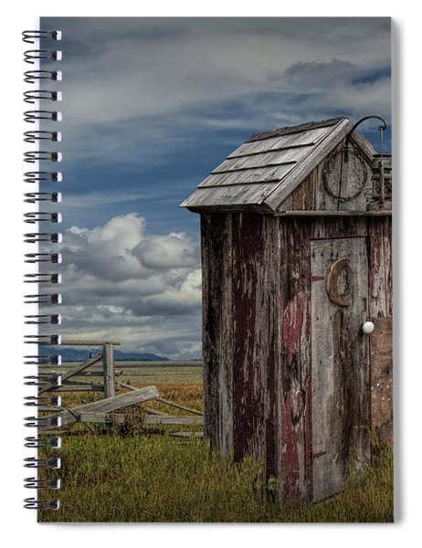 Wood Outhouse Out West Spiral Notebook