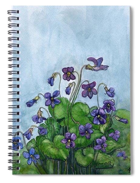 Wood Violets Spiral Notebook