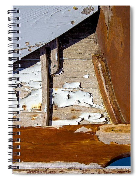 Wooden Boat Abstract 1 Spiral Notebook