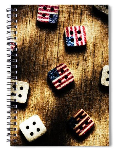 Wooden Button America Spiral Notebook