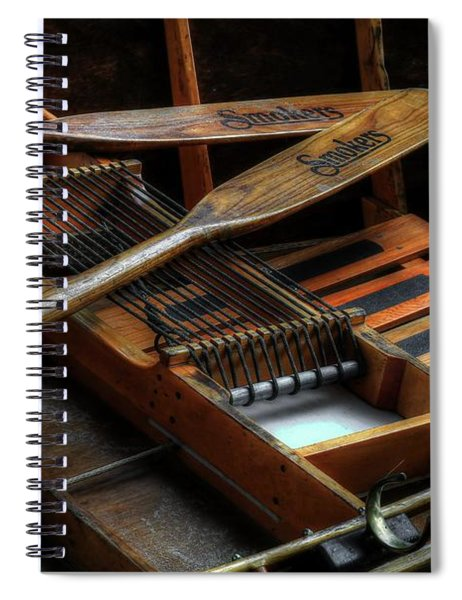 Wooden Rowboat And Oars Spiral Notebook