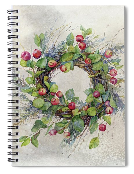 Woodland Berry Wreath Spiral Notebook