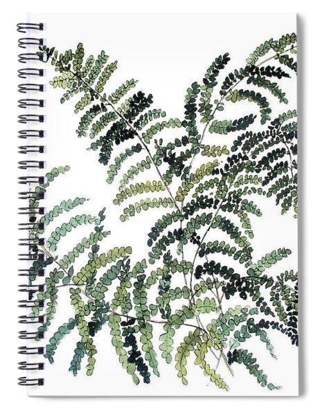 Woodland Maiden Fern Spiral Notebook