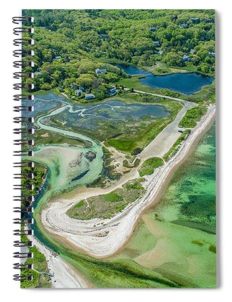 Woodneck Beach At 400 Feet Spiral Notebook