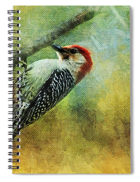 Woodpecker On Cherry Tree Spiral Notebook