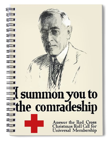 Woodrow Wison Red Cross Roll Call Spiral Notebook