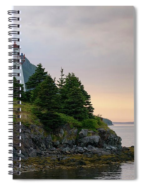 Woody Point Lighthouse - Bonne Bay Newfoundland At Sunset Spiral Notebook