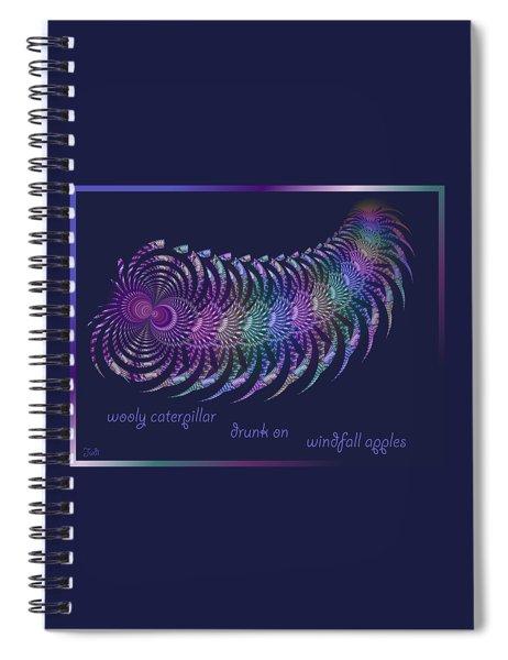 Wooly Caterpillar Haiga Spiral Notebook