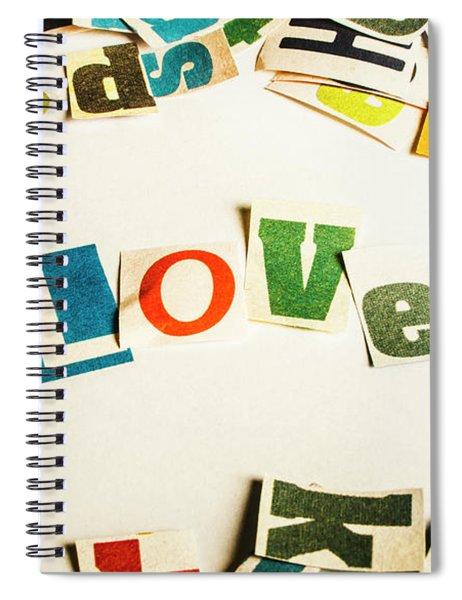 Word Of Love Spiral Notebook