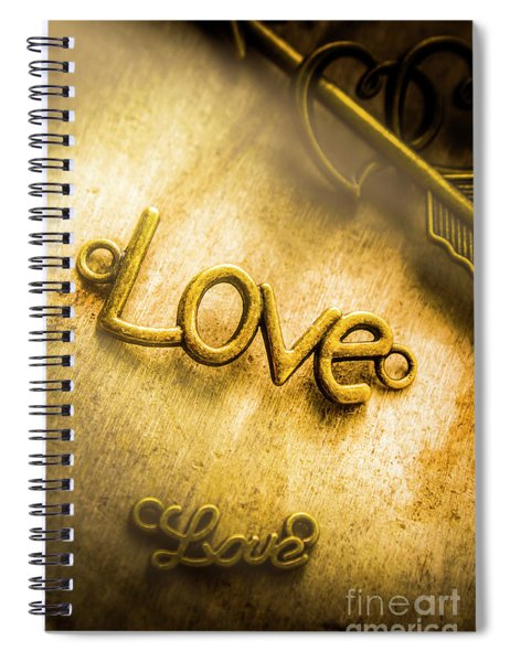 Words And Letters Of Love Spiral Notebook