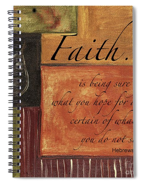 Words To Live By Faith Spiral Notebook