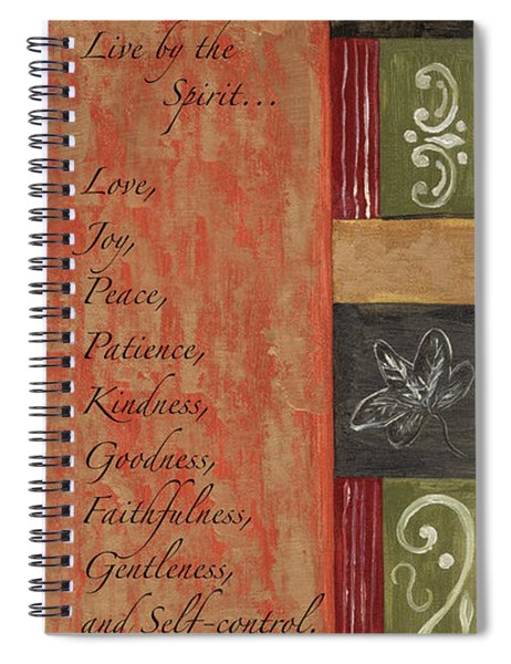 Words To Live By, Fruit Of The Spirit Spiral Notebook