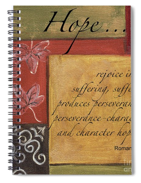 Words To Live By Hope Spiral Notebook