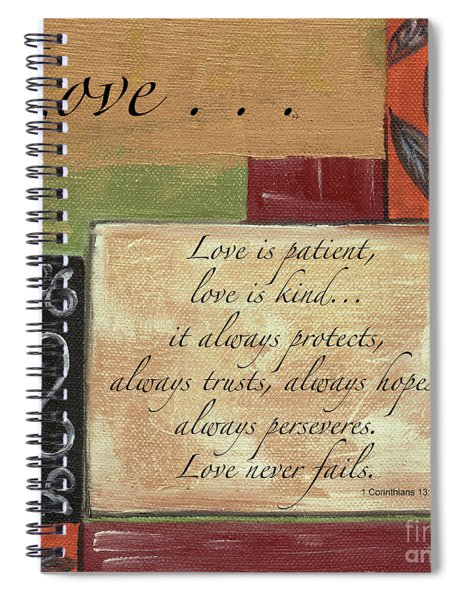 Words To Live By Love Spiral Notebook