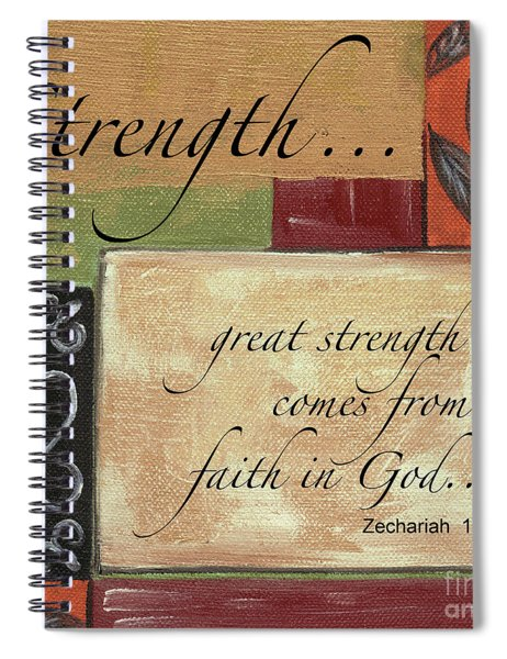 Words To Live By Strength Spiral Notebook