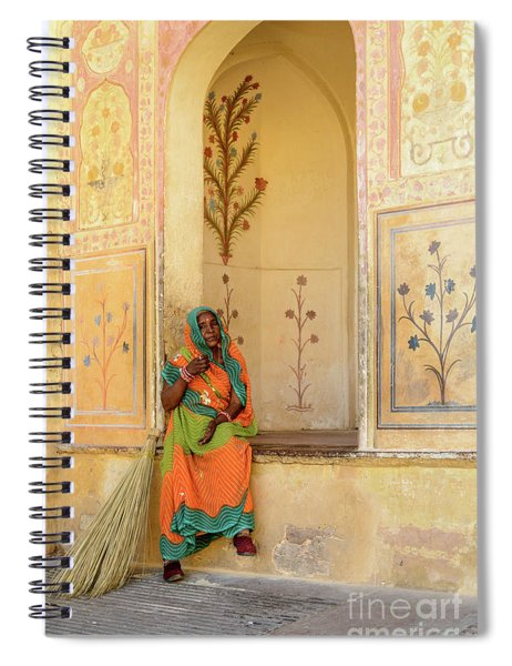 Workers In Amer Fort 01 Spiral Notebook