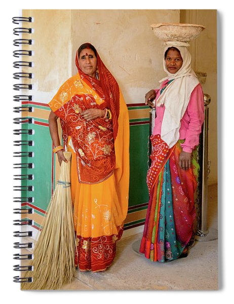 Workers In Amer Fort 02 Spiral Notebook