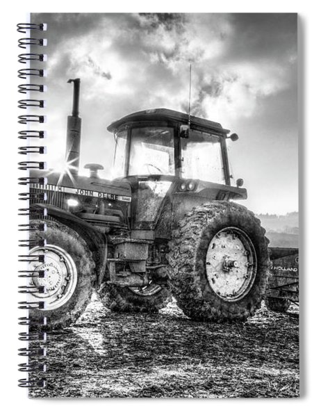 Workhorse John Deere Black And White Spiral Notebook