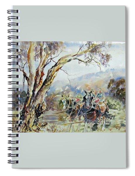 Working Clydesdale Pair, Australian Landscape. Spiral Notebook