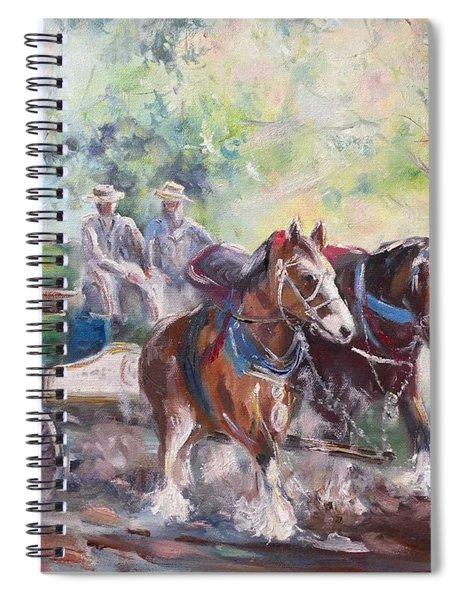 Working Clydesdale Pair, Victoria Breweries. Spiral Notebook