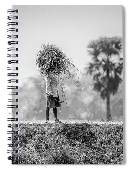 Working In The Lower Ganges Spiral Notebook