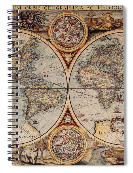 World Map 1636 Spiral Notebook