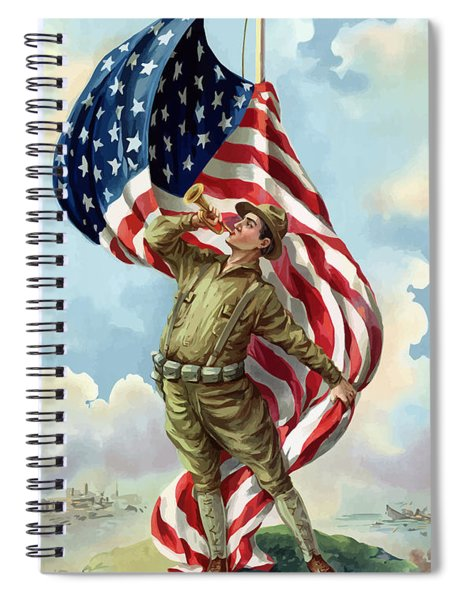 World War One Soldier Spiral Notebook