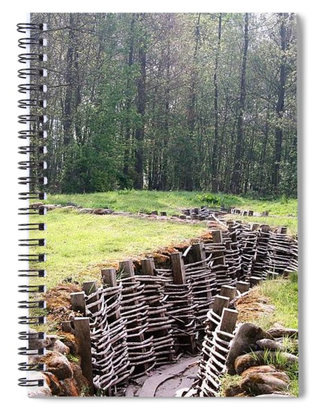 Spiral Notebook featuring the photograph World War One Trenches by Travel Pics