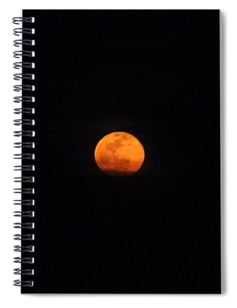Worm Moon Rising From The Clouds Spiral Notebook