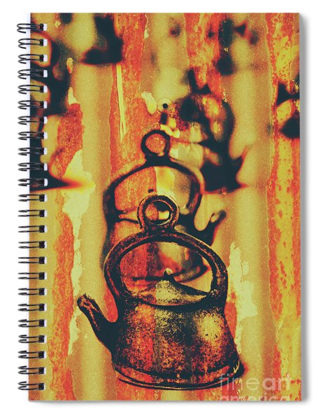 Worn And Weathered Kettles Spiral Notebook