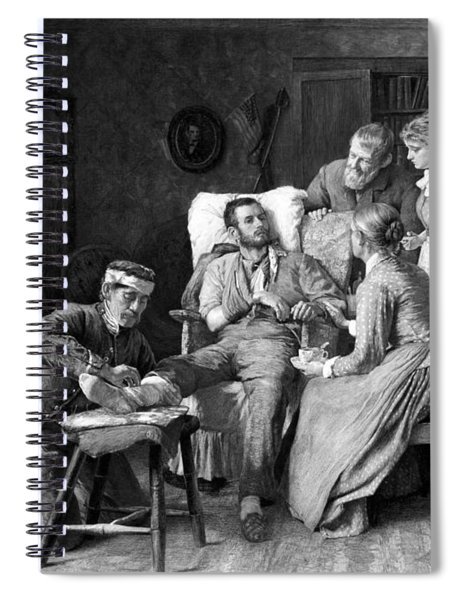 Wounded Soldier At The Battle Of Gettysburg Spiral Notebook