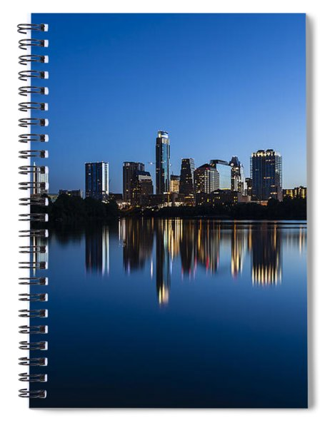 Wrapped In Blue Spiral Notebook