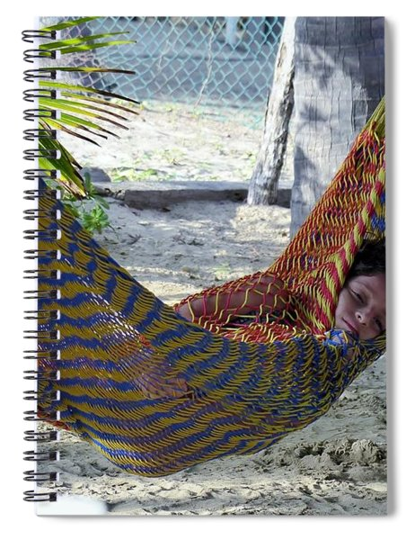 Wrapped In The Hammock Spiral Notebook