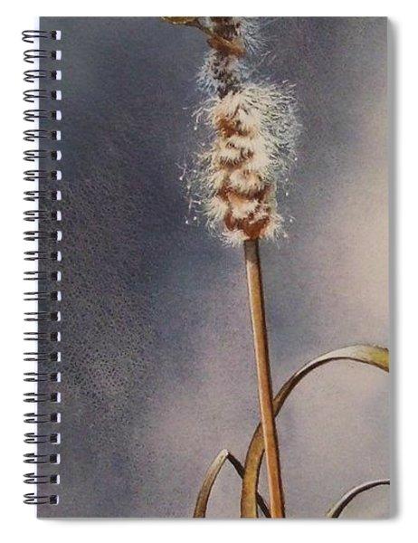 Wren And Cattails Spiral Notebook