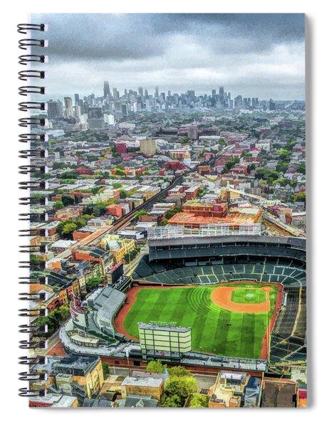 Wrigley Field Chicago Skyline Spiral Notebook