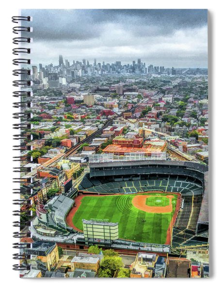 Wrigley Field Chicago Skyline Spiral Notebook
