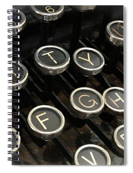 Spiral Notebook featuring the photograph Writer's Block by Andrea Platt