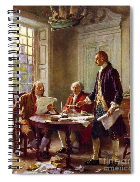 Writing The Declaration Of Independence, 1776, Spiral Notebook