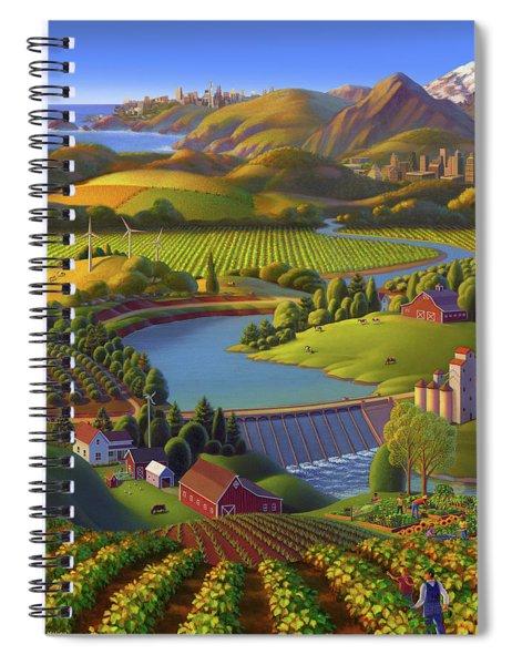 Washington State University  Anniversary Poster  Spiral Notebook