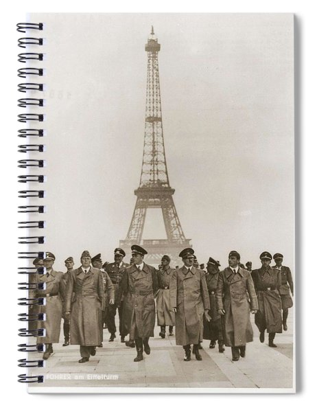 Ww II War Photo Series - In Paris Spiral Notebook