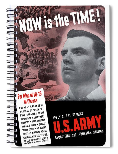 Ww2 Army Recruiting Poster Spiral Notebook