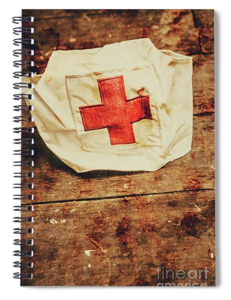 Ww2 Nurse Hat. Army Medical Corps Spiral Notebook