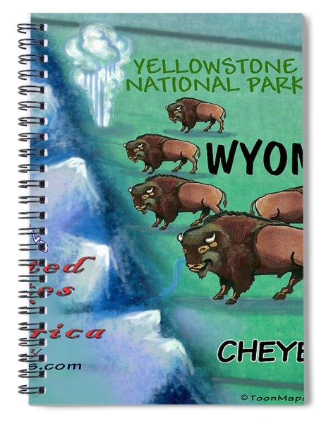 Wyoming Fun Map Spiral Notebook