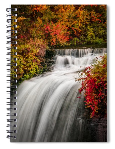 Spiral Notebook featuring the photograph Fall At Minnehaha Falls by Patti Deters