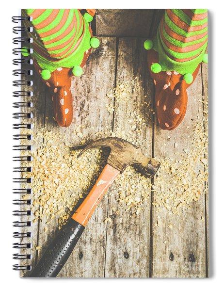Xmas Workshop Elf Spiral Notebook