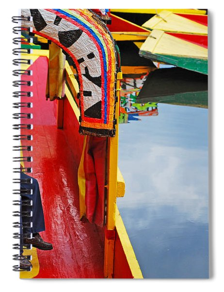 Spiral Notebook featuring the photograph Xochimilco by Skip Hunt
