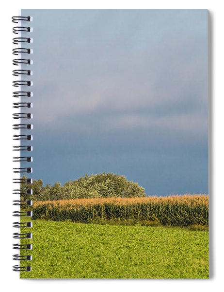 Spiral Notebook featuring the photograph Farmer's Field by Patti Deters